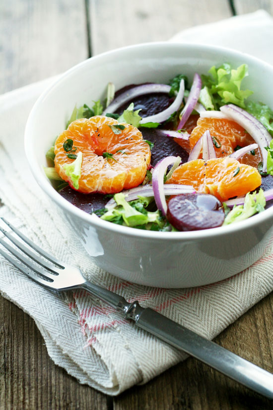 beet and tangerine salad